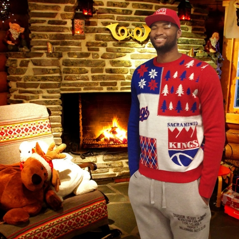 new style 22838 f6bd5 Sacramento Kings take tacky photos in ugly Christmas ...
