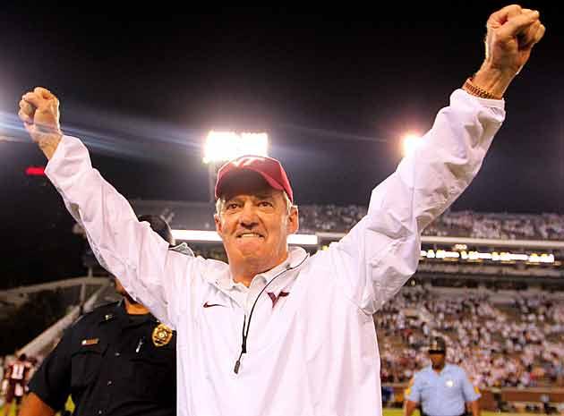 Virginia Tech coach Frank Beamer