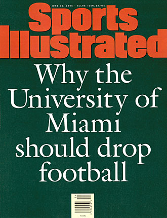 1995 Miami football cover of Sports Illustrated