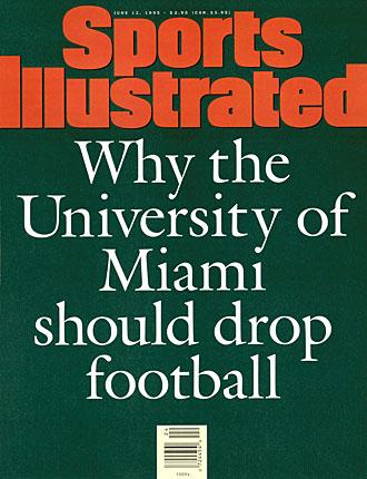 Miami Hurricanes football cover 1995