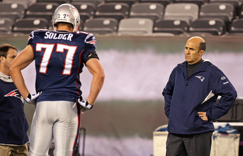 Former New England Patriots team doctor Dr. Thoams Gill on the field in November 2011.