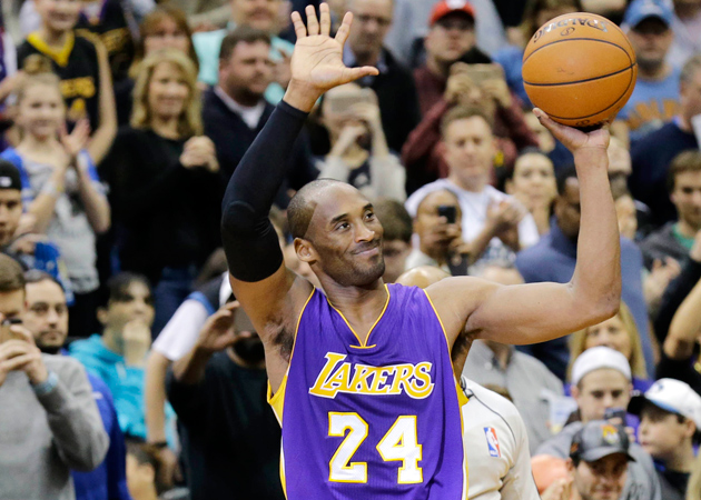 Kobe Bryant passed Michael Jordan for third on the all-time NBA scoring list.