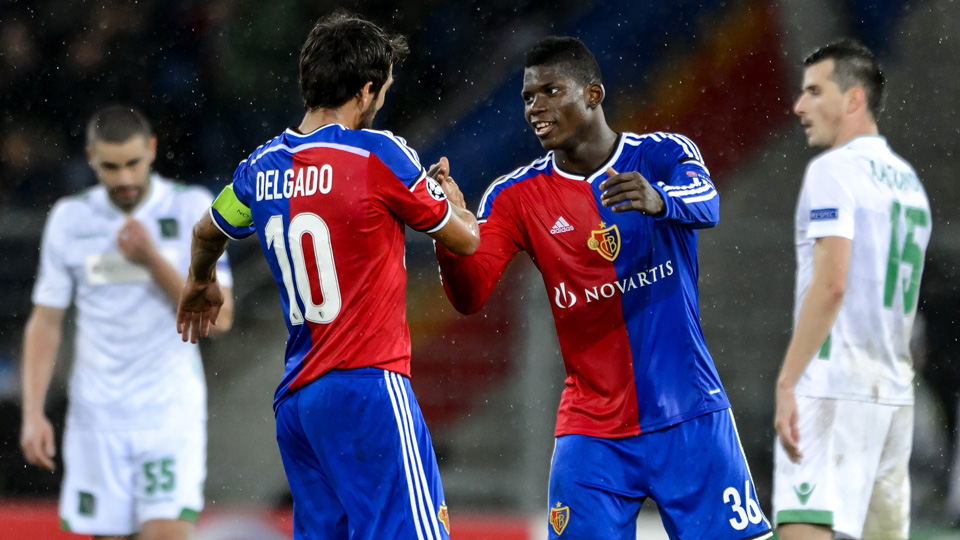 FC Basel rising star Breel Embolo (36) will play for Switzerland internationally instead of his native Cameroon.
