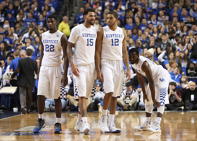 Kentucky's frontcourt is undergoing changes with Alex Poythress (22) out for the season and Willie Cauley-Stein (15) emerging as a player of the year candidate.