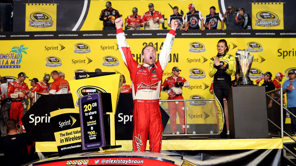 The NASCAR Sprint Cup Series, which Kevin Harvick won in 2014, is getting a new sponsor.