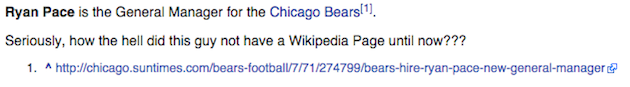 chicago bears gm ryan pace wikipedia