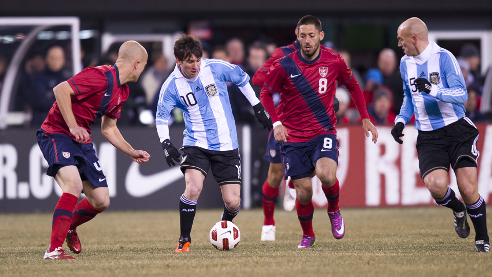 The U.S. men's national team played Argentina in New Jersey in 2011.