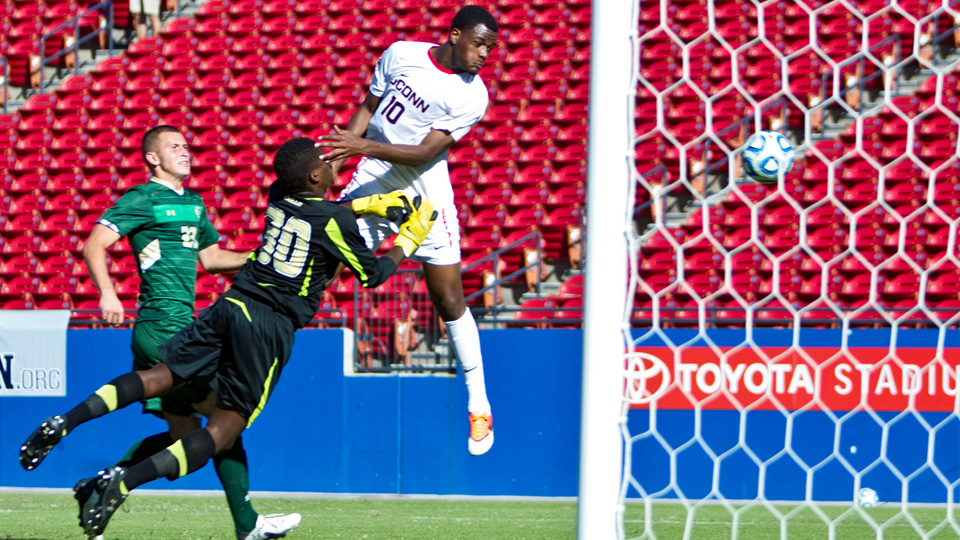 UConn forward Cyle Larin (10) is a candidate to go first overall to Orlando City SC in the 2015 MLS SuperDraft.