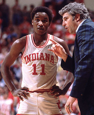 Even future Hall of Famer Isiah Thomas (left) was not immune from Knight's coaching methods.