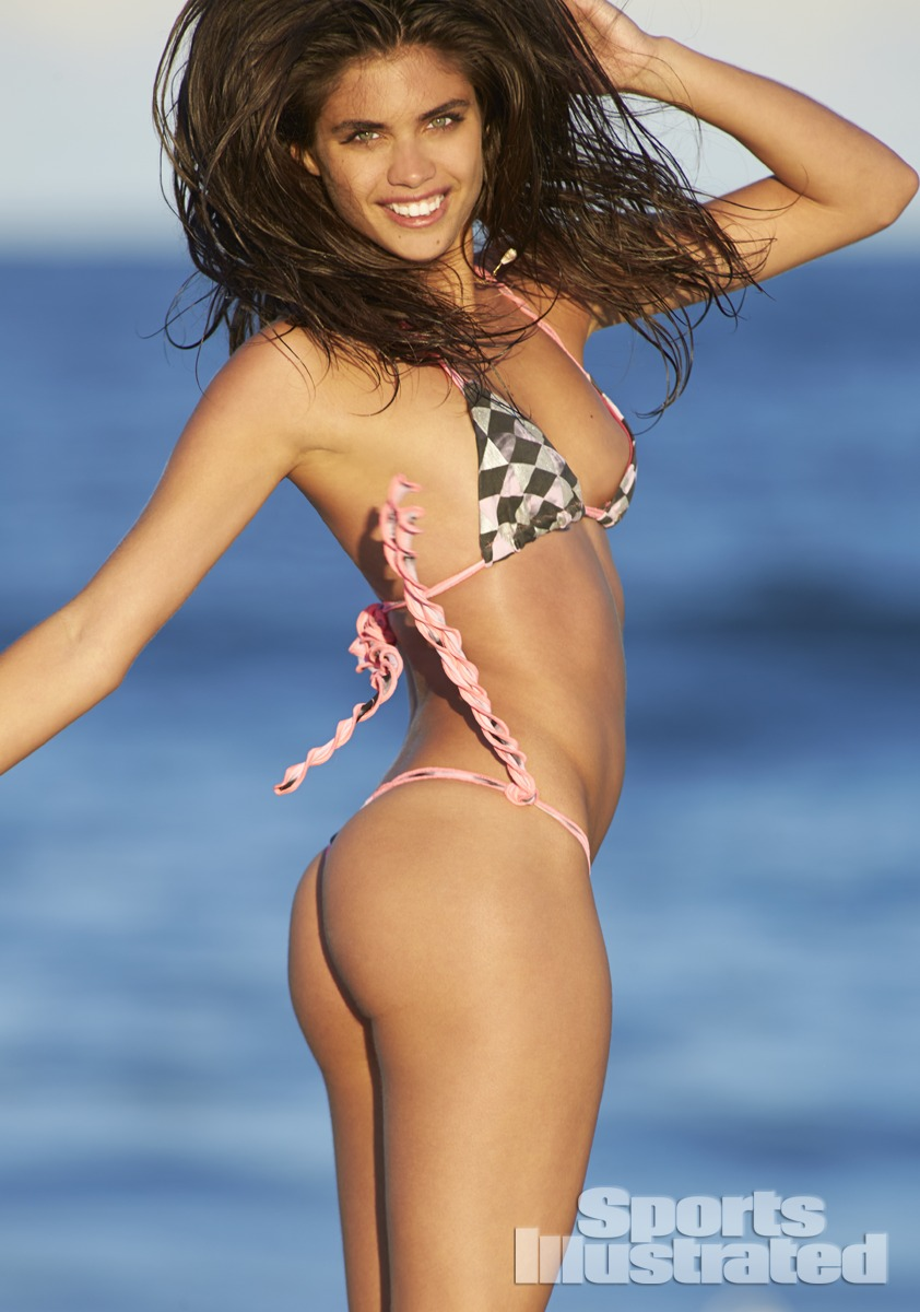 Sara Sampaio was photographed by Ben Watts at the Jersey Shore. Swimsuit by Martha Rey for The La Boheme.