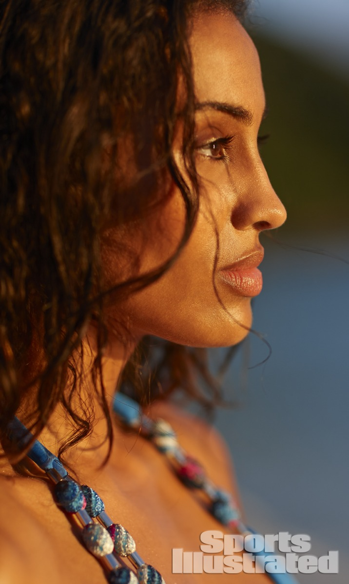 Skylar Diggins was photographed by Adam Franzino in Guana Island. Swimsuit by BECCA by Rebecca Virtue.