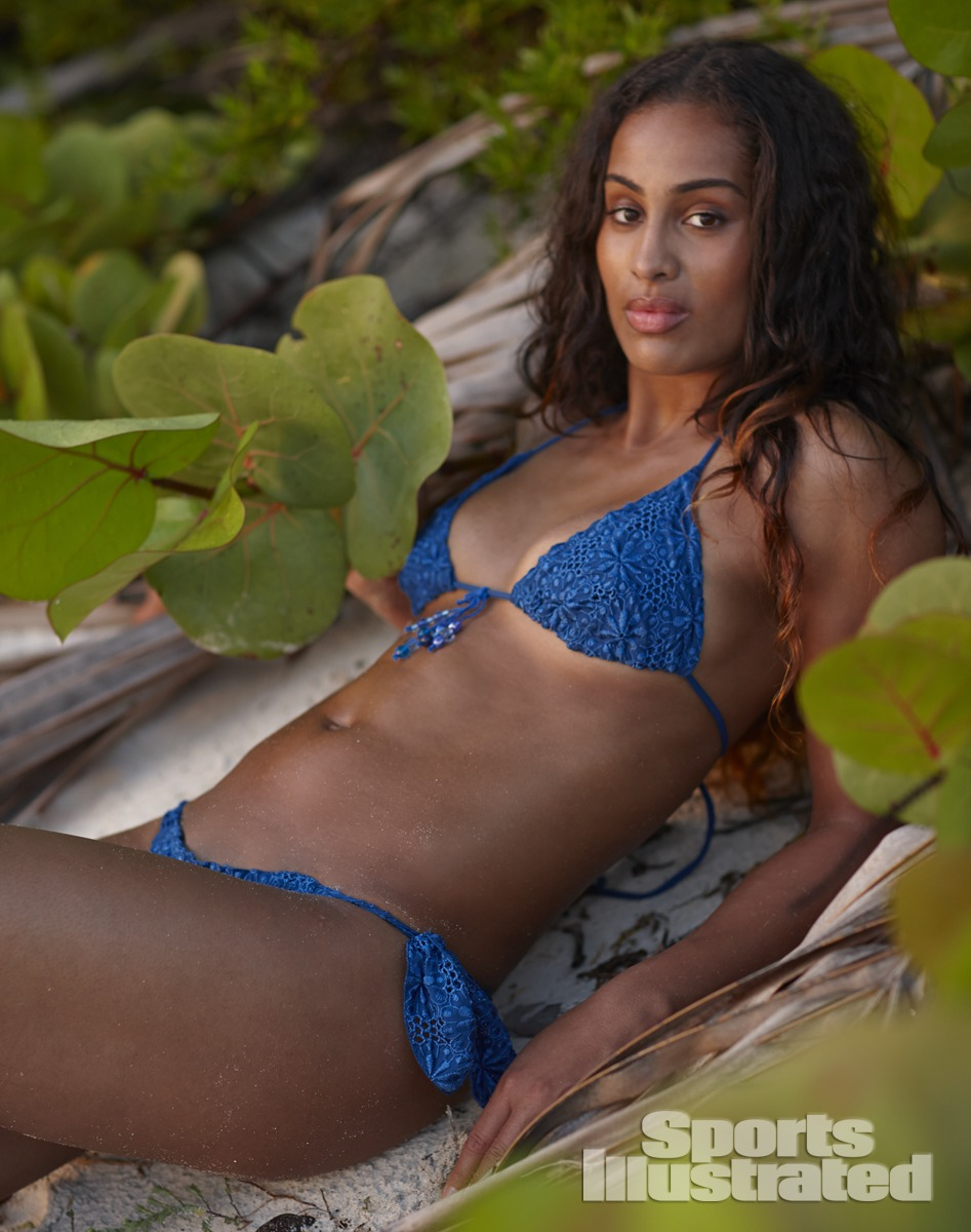 Skylar Diggins was photographed by Adam Franzino in Guana Island. Swimsuit by Flavia Padovan.