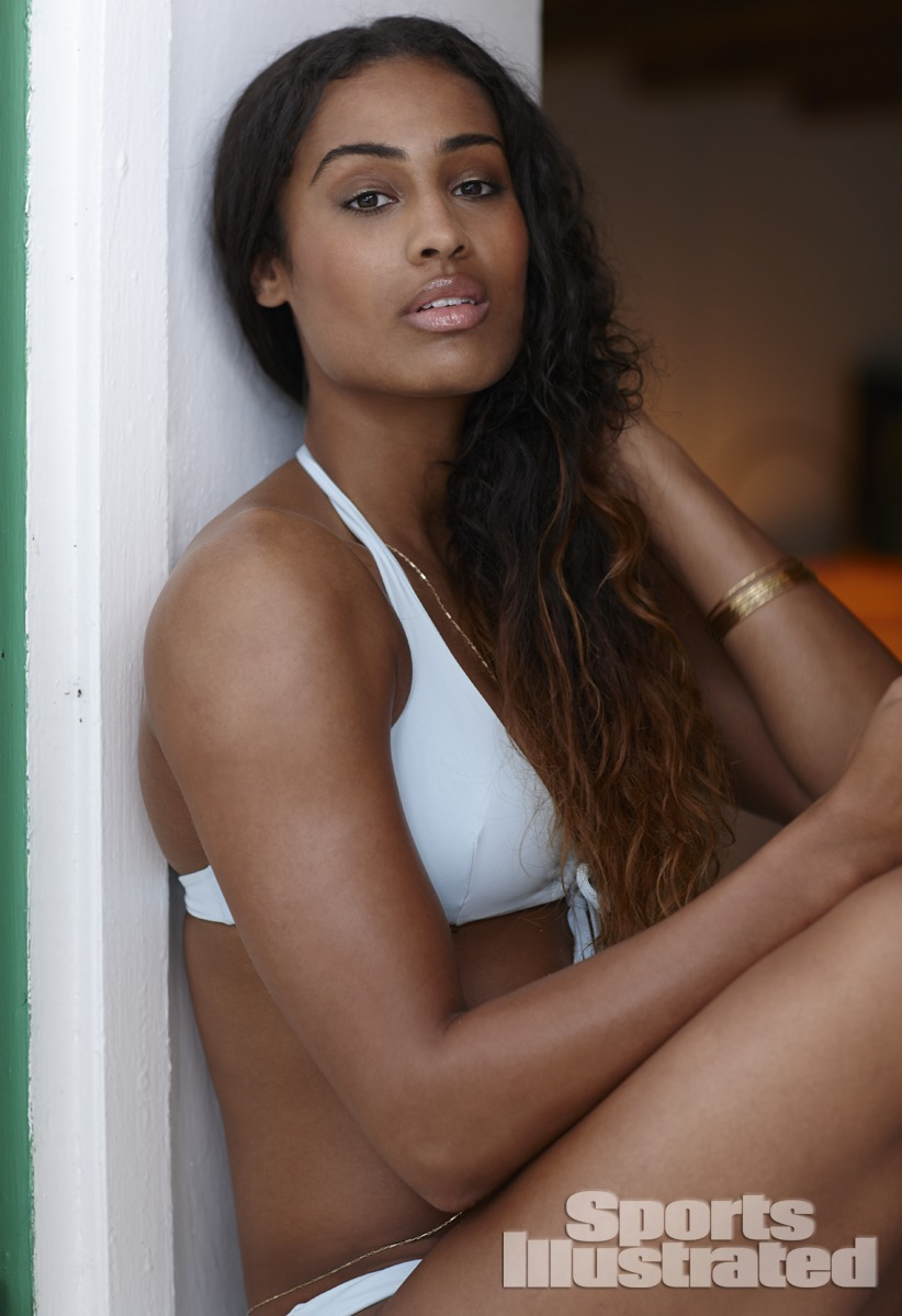 Skylar Diggins was photographed by Adam Franzino in Guana Island. Swimsuit by Vanda Catucci.