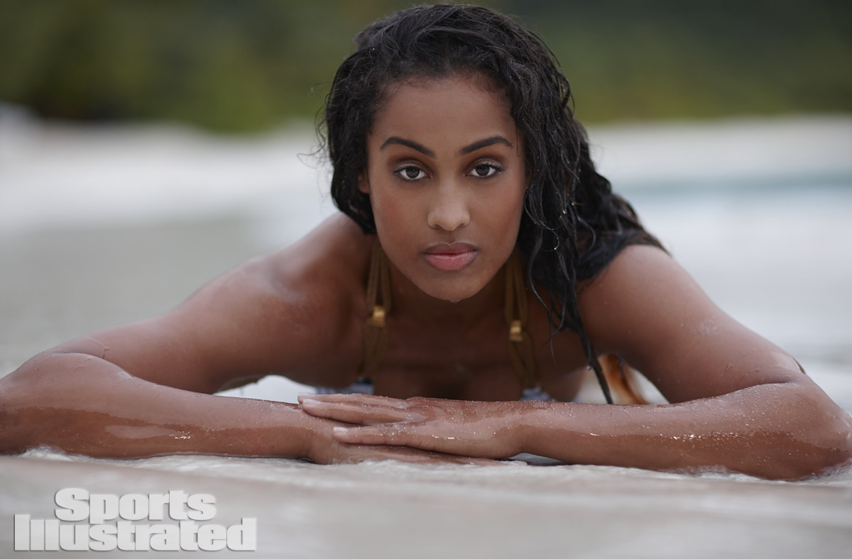 Skylar Diggins was photographed by Adam Franzino in Guana Island. Swimsuit by Despi.