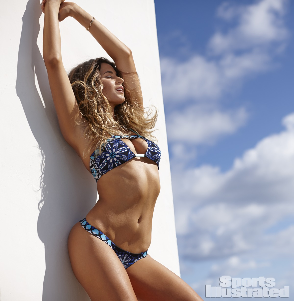 Anastasia Ashley was photographed by Adam Franzino in Guana Island. Swimsuit by Ola Vida.