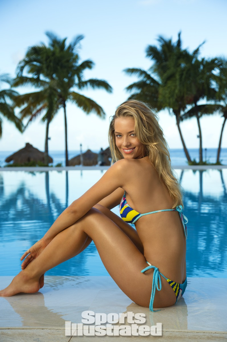 Hannah Ferguson was photographed by Walter Iooss Jr. in St. Lucia. Swimsuit by Indah.