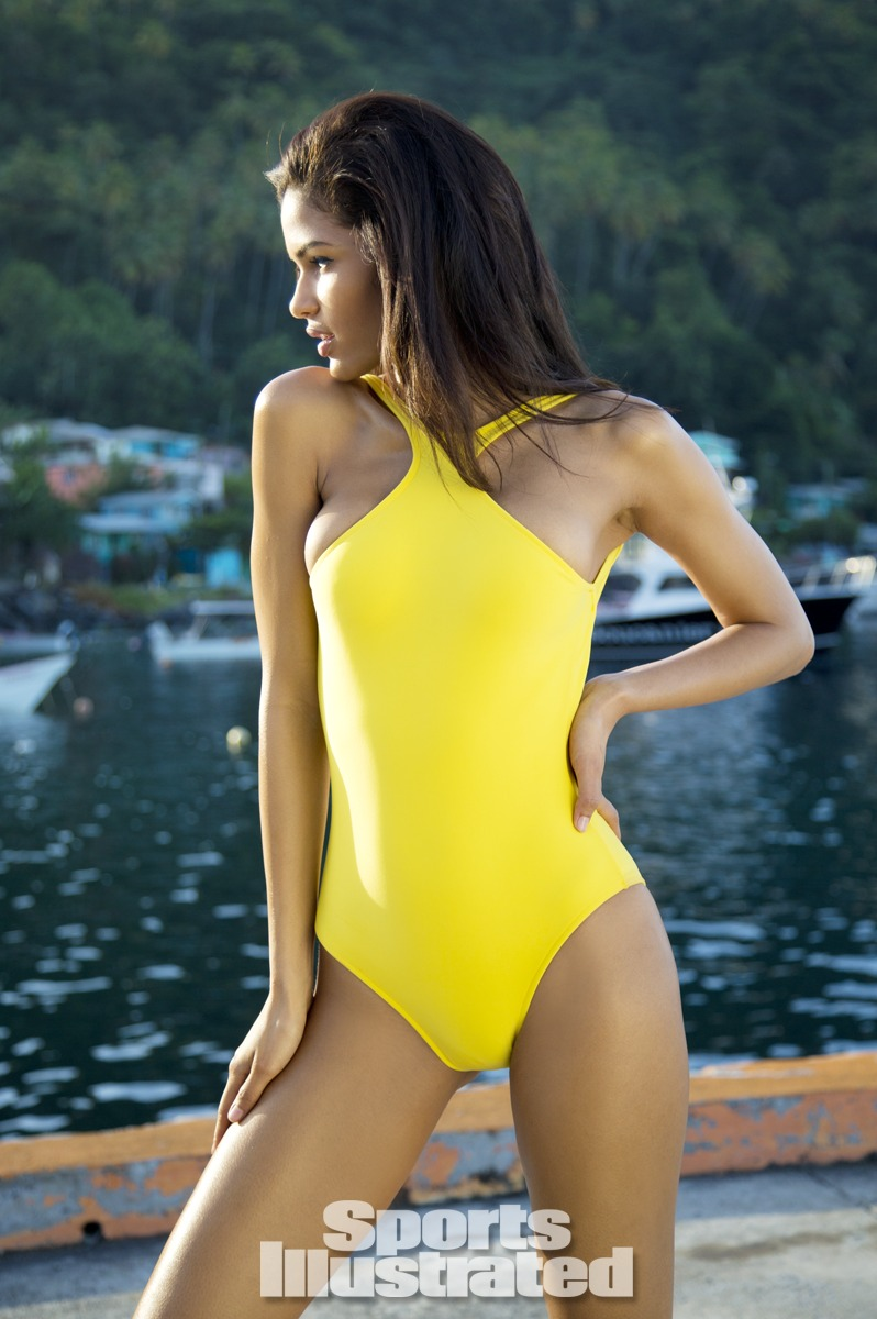 Cris Urena was photographed by Walter Iooss Jr. in St. Lucia. Swimsuit by Lenny Niemeyer.