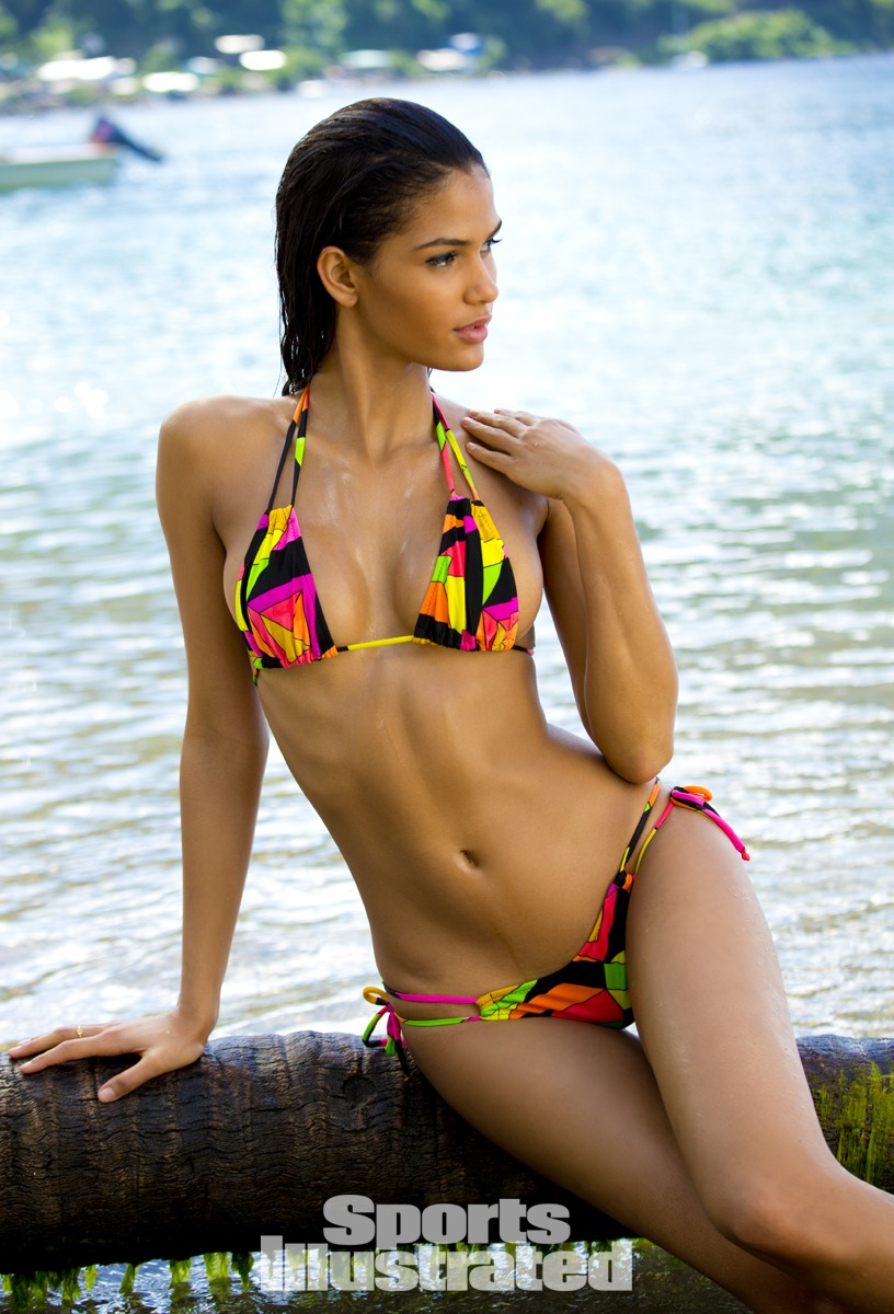 Cris Urena was photographed by Walter Iooss Jr. in St. Lucia. Swimsuit by Bellina Rebelle.