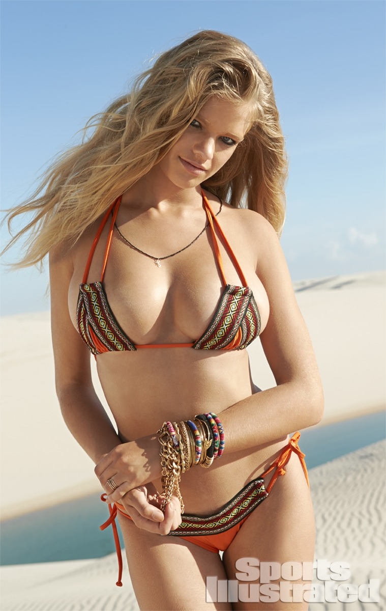Valerie van der Graaf was photographed by Raphael Mazzucco in Brazil. Swimsuit by Kate Swim.