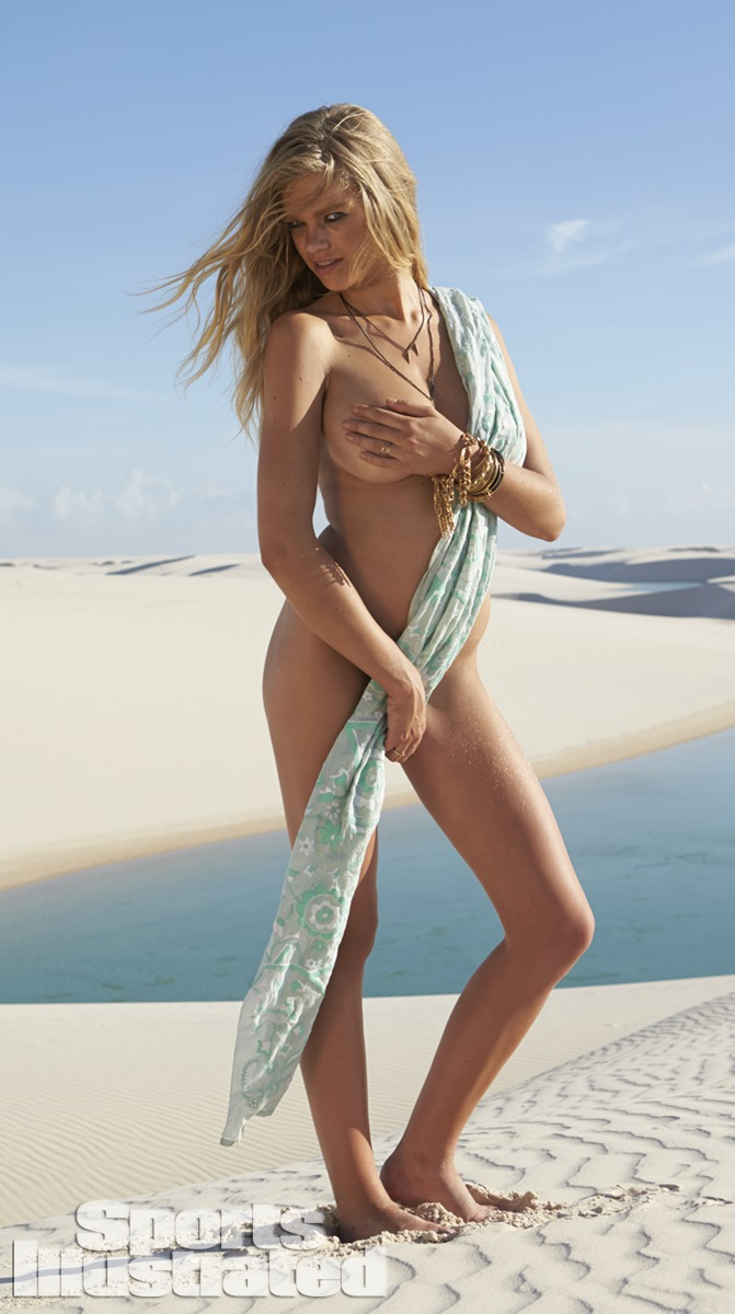 Valerie van der Graaf was photographed by Raphael Mazzucco in Brazil. Scarf by Afghan Hands.