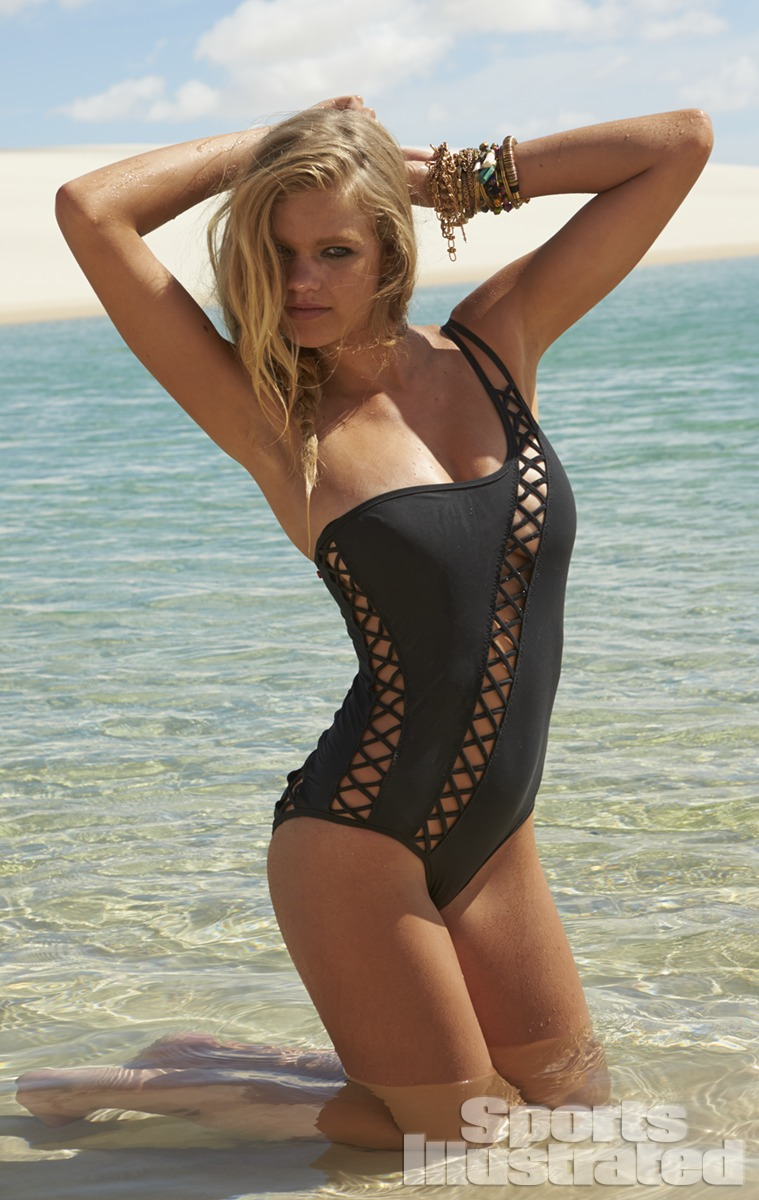 Valerie van der Graaf was photographed by Raphael Mazzucco in Brazil. Swimsuit by Red Carter.