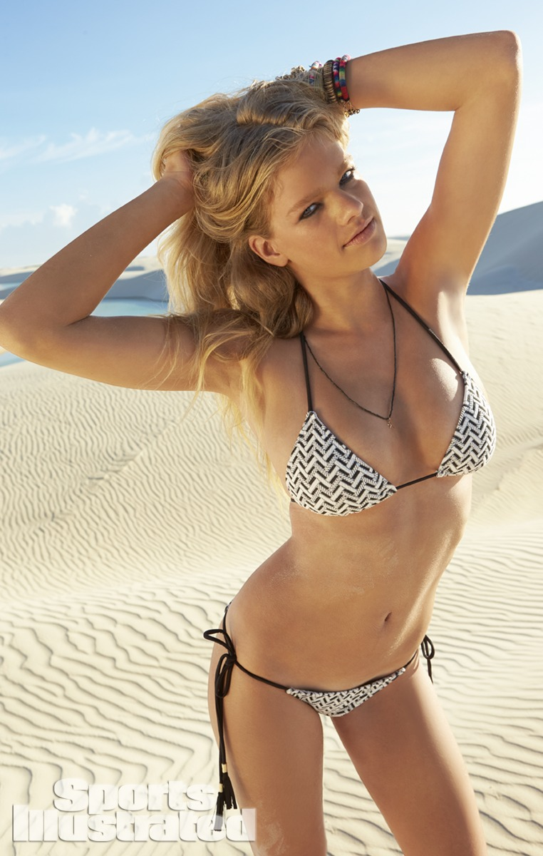 Valerie van der Graaf was photographed by Raphael Mazzucco in Brazil. Swimsuit by Eberjey.