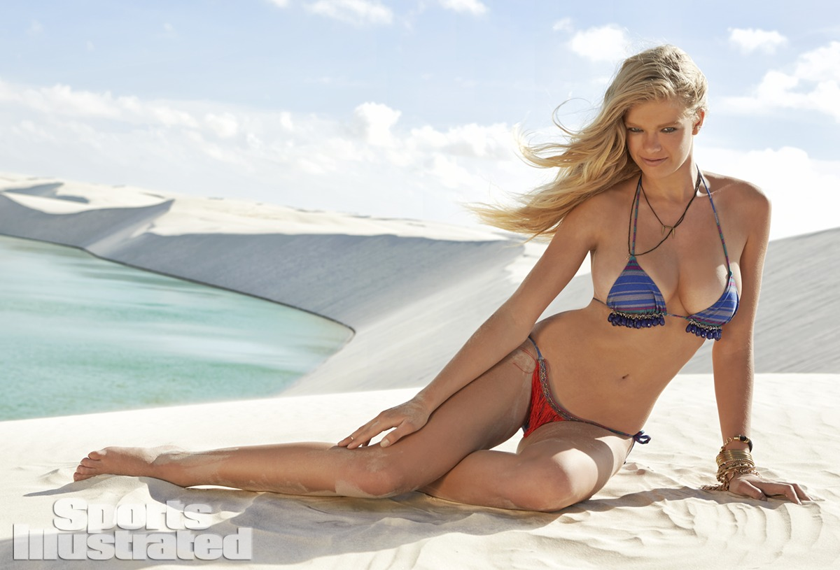 Valerie van der Graaf was photographed by Raphael Mazzucco in Brazil. Swimsuit by CM - Cia Maritima Swimwear.