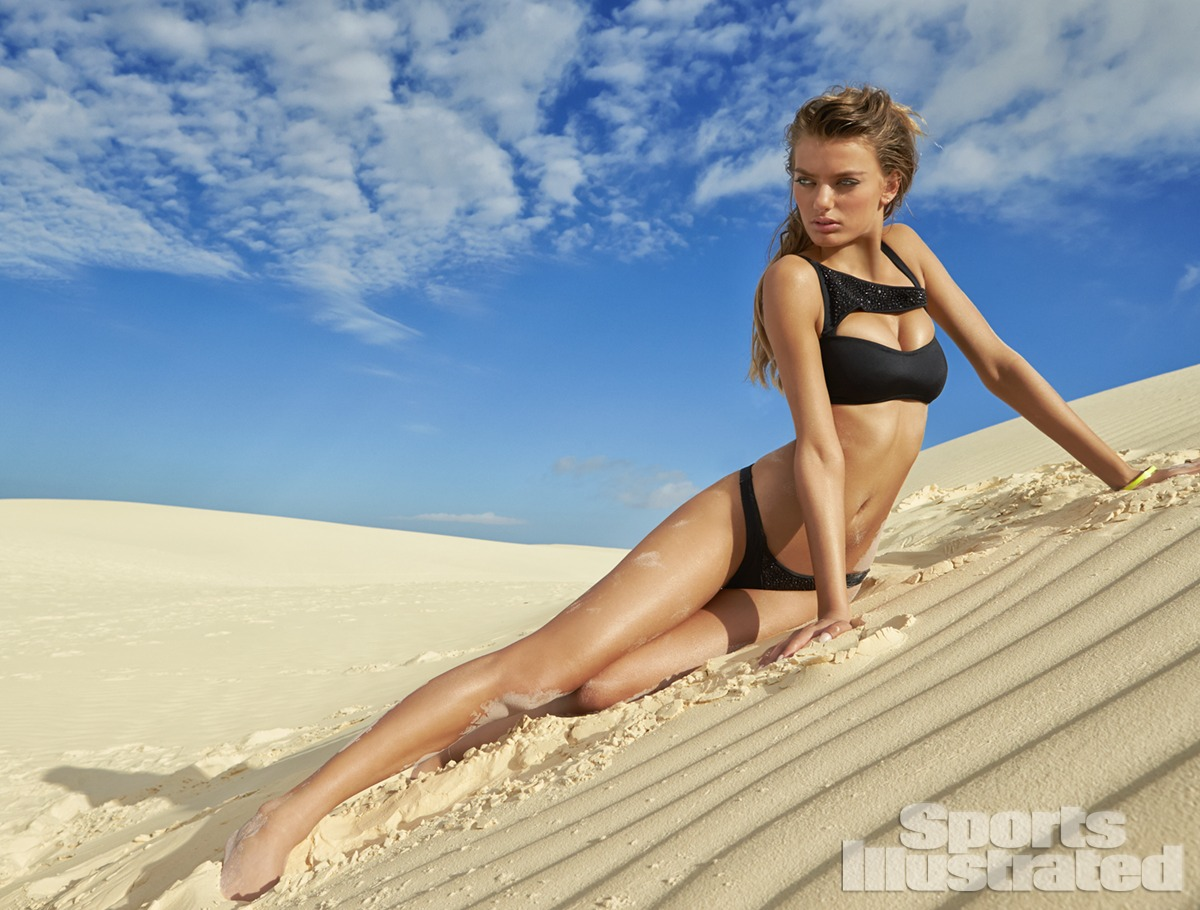 Bregje Heinen was photographed by Raphael Mazzucco in Brazil. Swimsuit by Kate Swim.