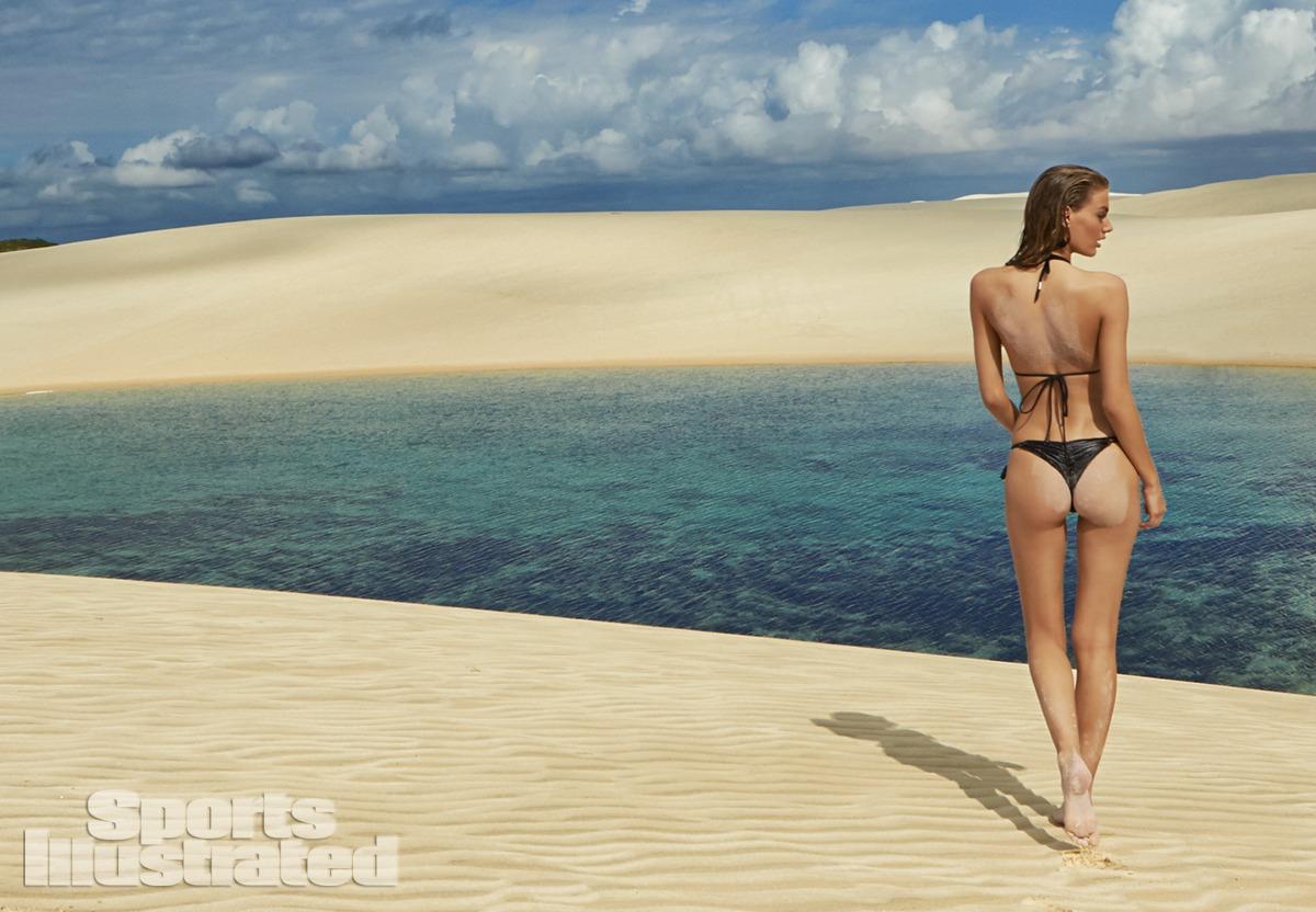 Bregje Heinen was photographed by Raphael Mazzucco in Brazil. Swimsuit by MilkBaby Bikini by Cat Thordarson.