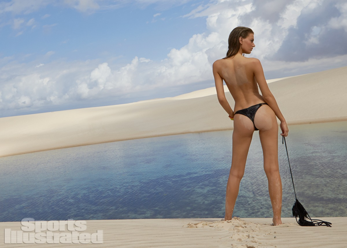 Bregje Heinen was photographed by Raphael Mazzucco in Brazil. Swimsuit by MilkBaby Bikini by Cat Thordarson.