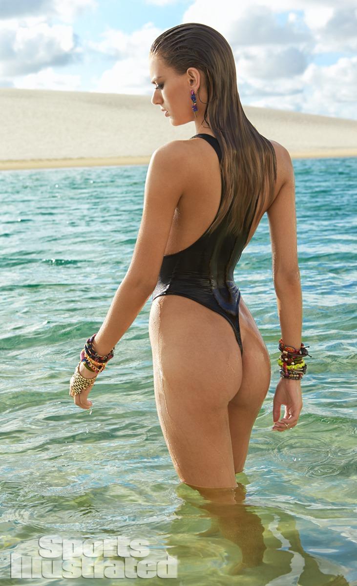Bregje Heinen was photographed by Raphael Mazzucco in Brazil. Swimsuit by WELL KEPT.