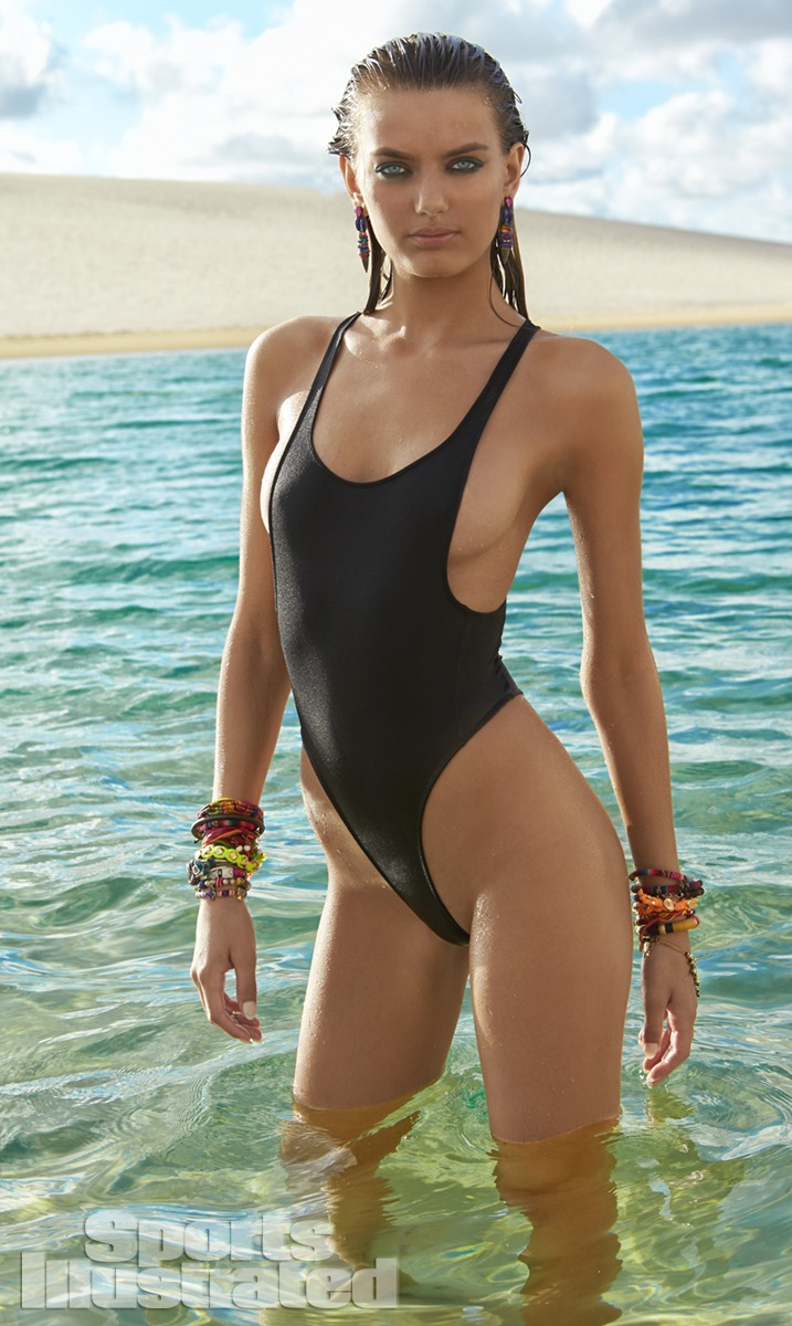 Bregje Heinen was photographed by Raphael Mazzucco in Brazil. Swimsuit by WELL KEPT.