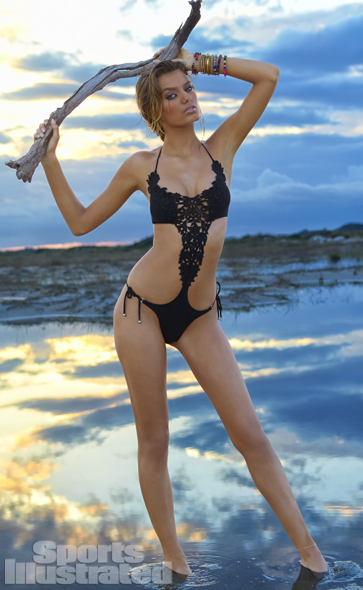 Bregje Heinen was photographed by Raphael Mazzucco in Brazil. Swimsuit by Pain de Sucre.