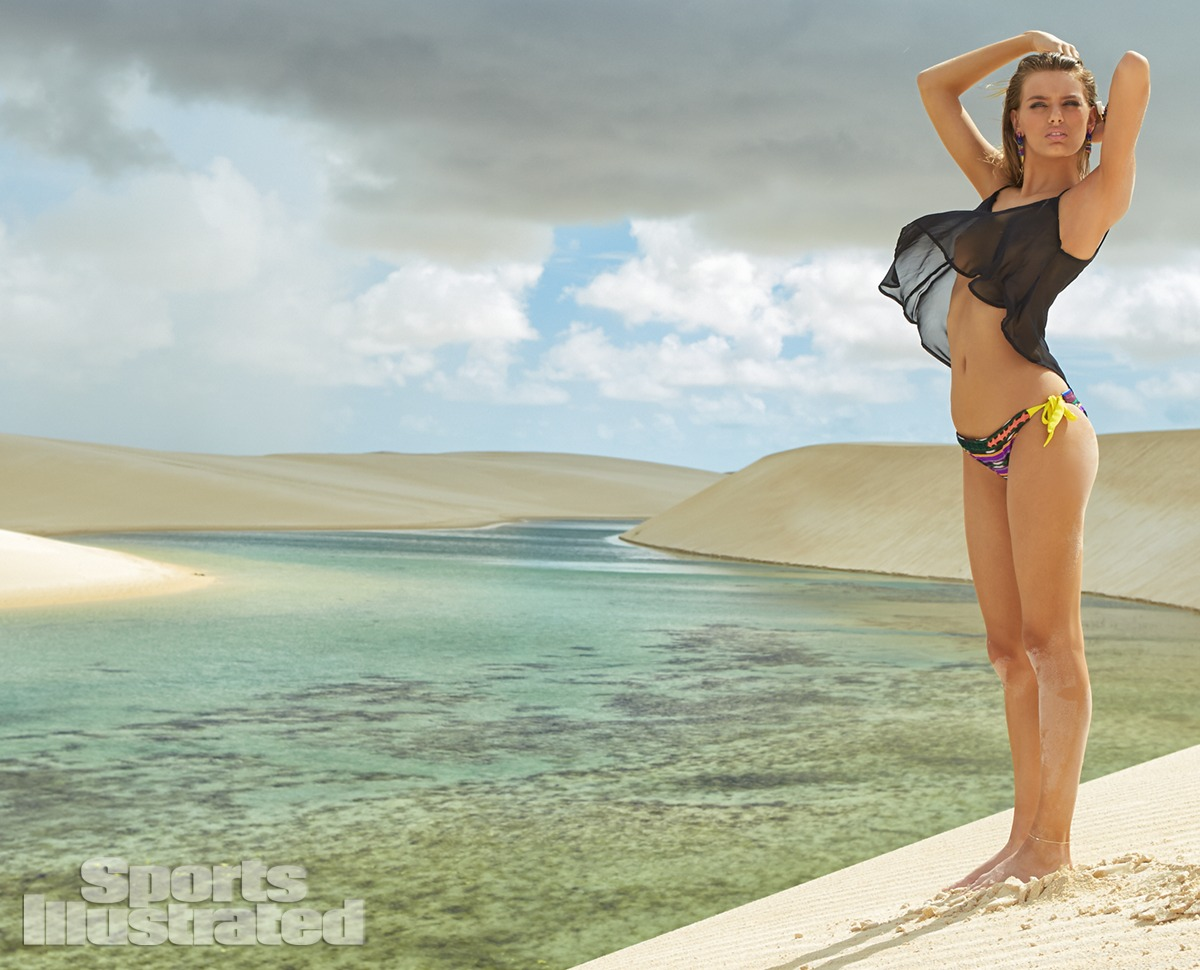 Bregje Heinen was photographed by Raphael Mazzucco in Brazil. Swimsuit by Kenny, Top by Daydreamer LA.