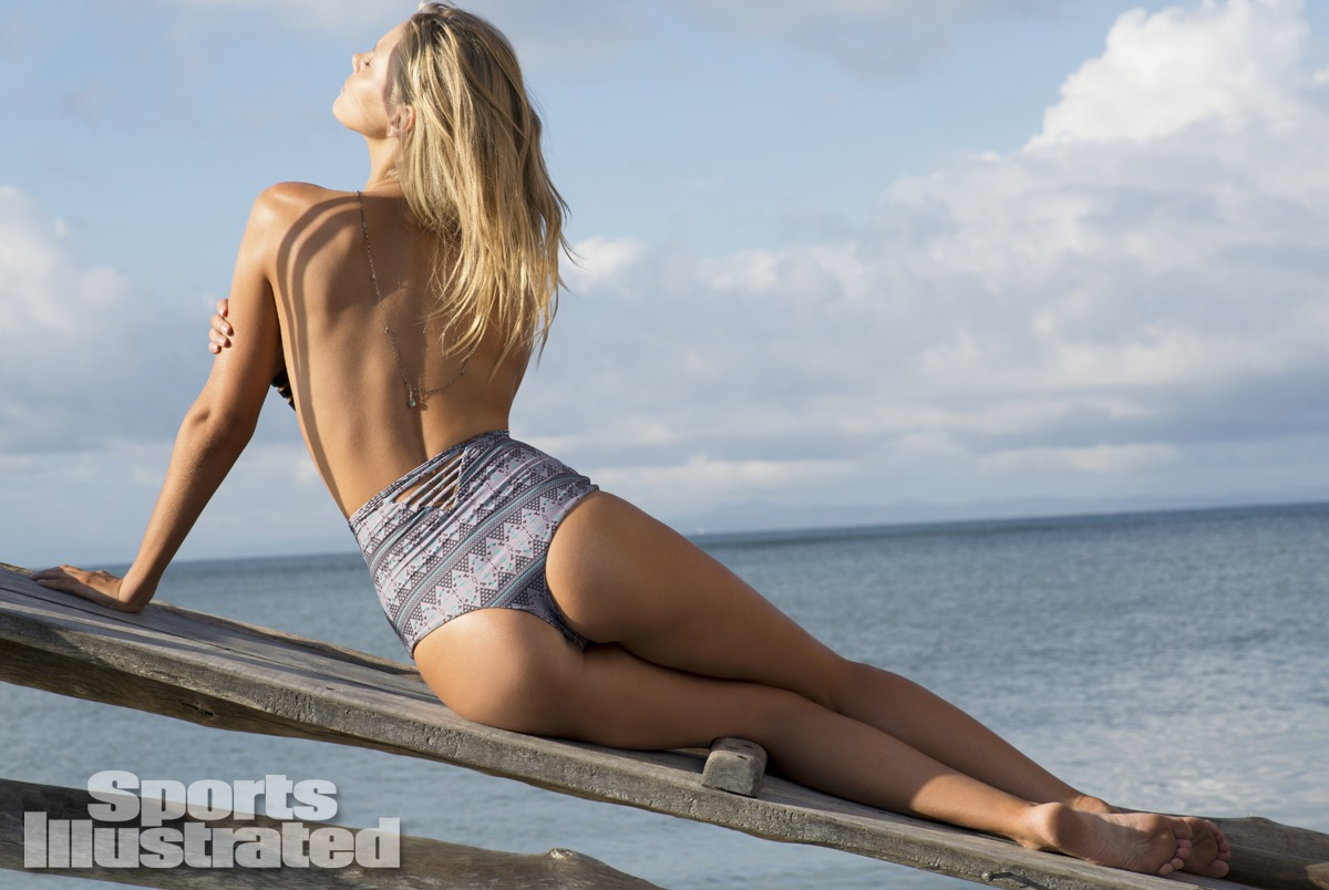 Marloes Horst was photographed by Derek Kettela in Madagascar. Swimsuit by Tori Praver Swimwear.