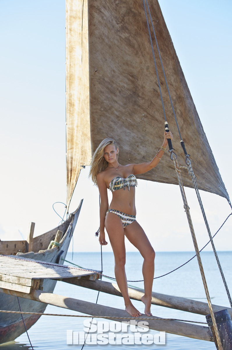 Marloes Horst was photographed by Derek Kettela in Madagascar. Swimsuit by Guria Beachwear.
