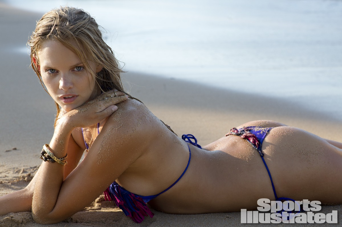 Marloes Horst was photographed by Derek Kettela in Madagascar. Swimsuit by Indah.