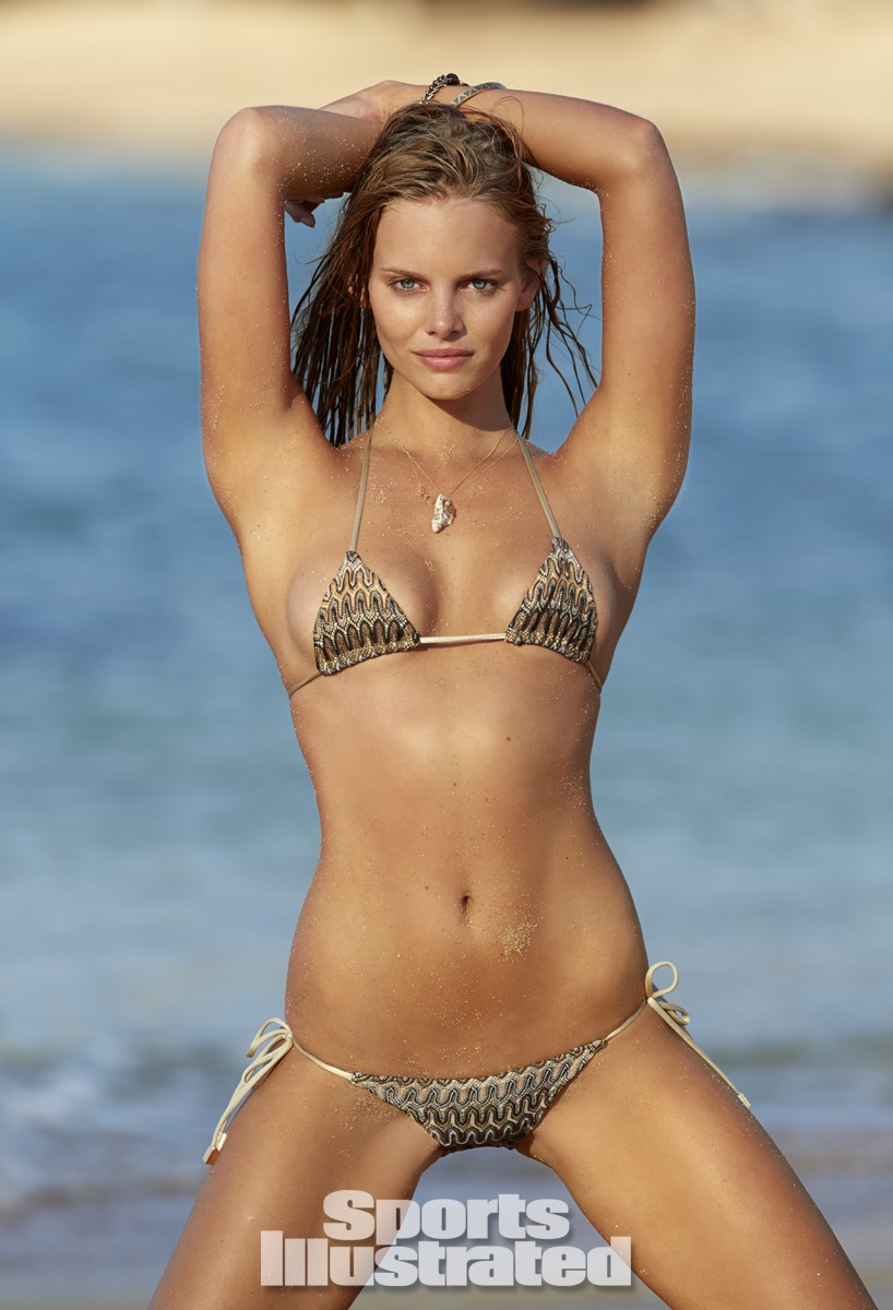 Marloes Horst was photographed by Derek Kettela in Madagascar. Swimsuit by Inca.