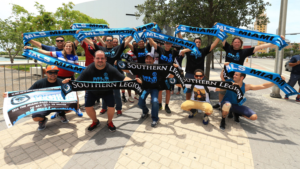 MLS fans in Miami, the Southern Legion, continue to wait for an expansion franchise.