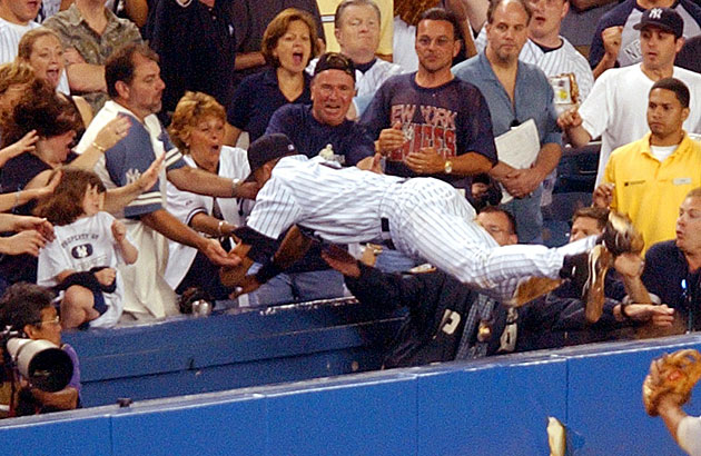 Derek Jeter's famous dive wasn't the only memorable defensive moment of the July 1, 2004 game between the Yankees and Red Sox.