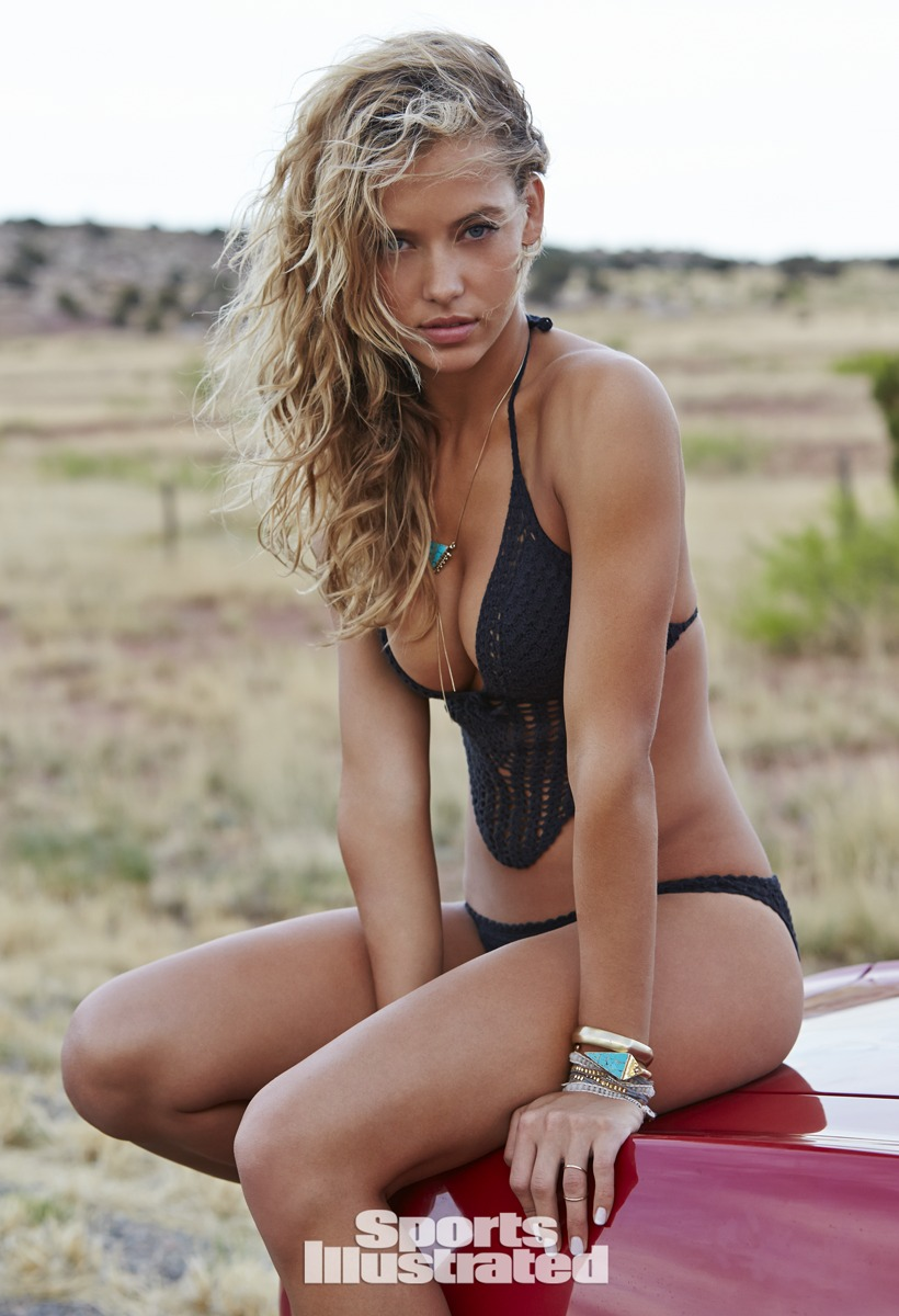 Hannah Ferguson was photographed by Ben Morris on U.S. Route 66