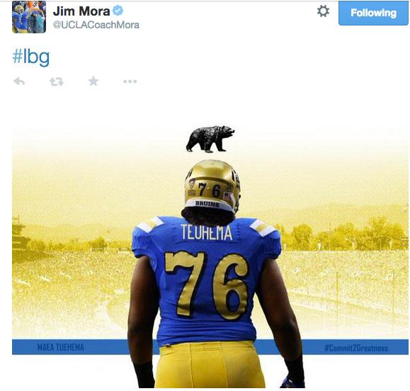 Jim Mora recruit tweet