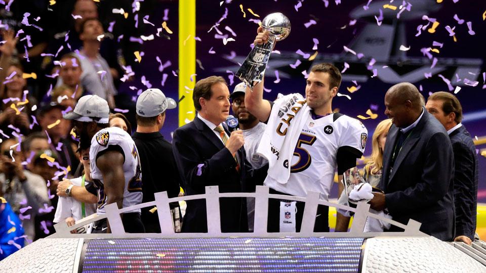 Joe Flacco was named Super Bowl MVP in 2013.