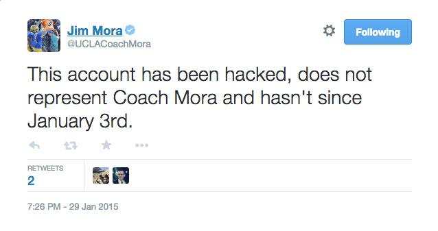 UCLA Jim Mora hacked