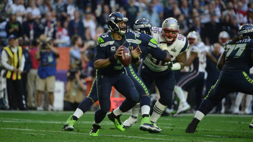 Russell Wilson Seattle Seahawks touchdown Super Bowl 2015