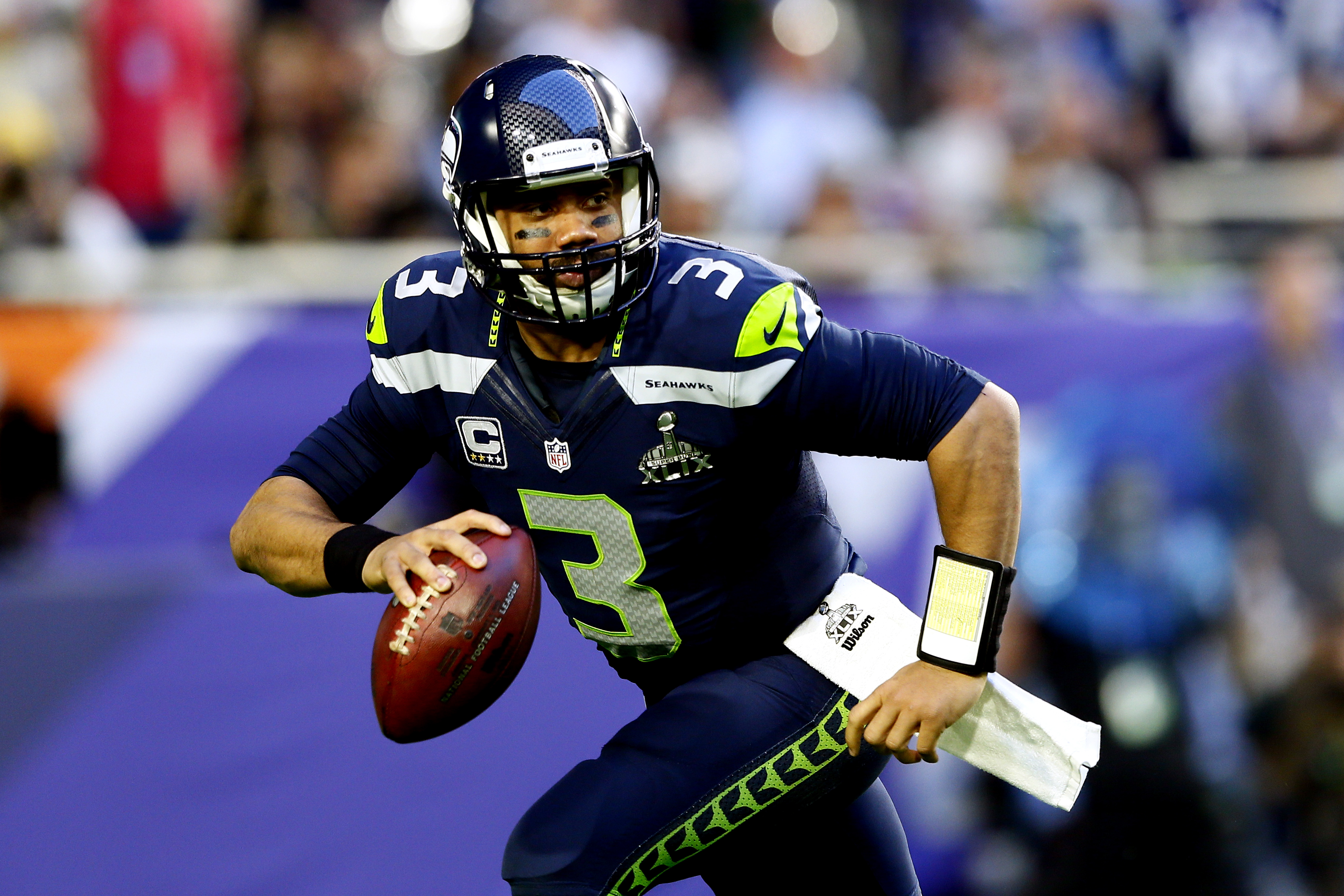 Russell wilson seahawks super bowl