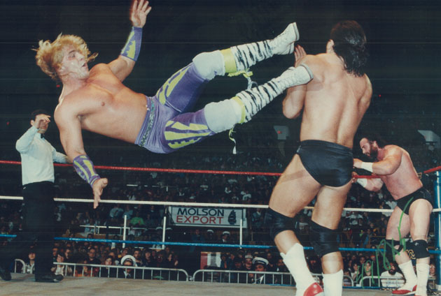Shawn Michaels was on The Rockers with his longtime tag team partner Marty Jannetty.