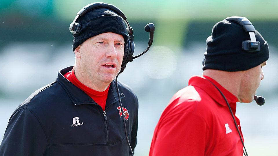 Left: Western Kentucky head coach Jeff Brohm