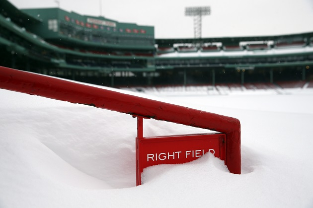 boston red sox snow