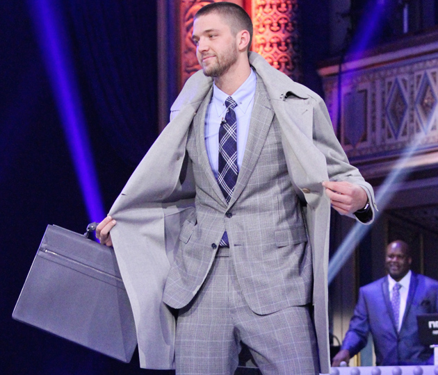Chandler Parsons walked the runway in the NBA All-Star weekend fashion show.